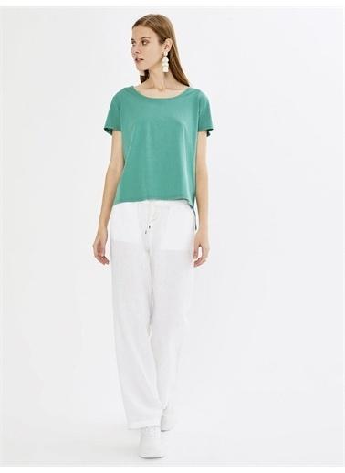 Xint XINT Yuvarlak Yaka %100 Pamuk Basic Tişört Yeşil